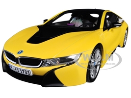 BMW i8 Speed Yellow Black Top 1/18 Diecast Model Car Paragon 97087