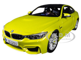 BMW M4 Coupe Austin Yellow Carbon Top 1/18 Diecast Model Car Paragon 97103