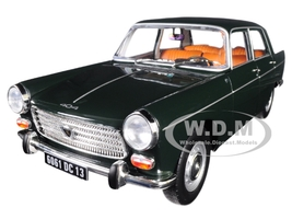 1965 Peugeot 404 Antique Green 1/18 Diecast Model Car Norev 184833