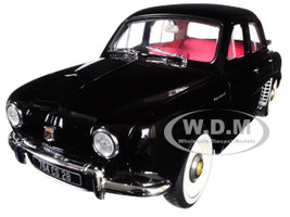 1958 Renault Dauphine Black Red Interior 1/18 Diecast Model Car Norev 185169