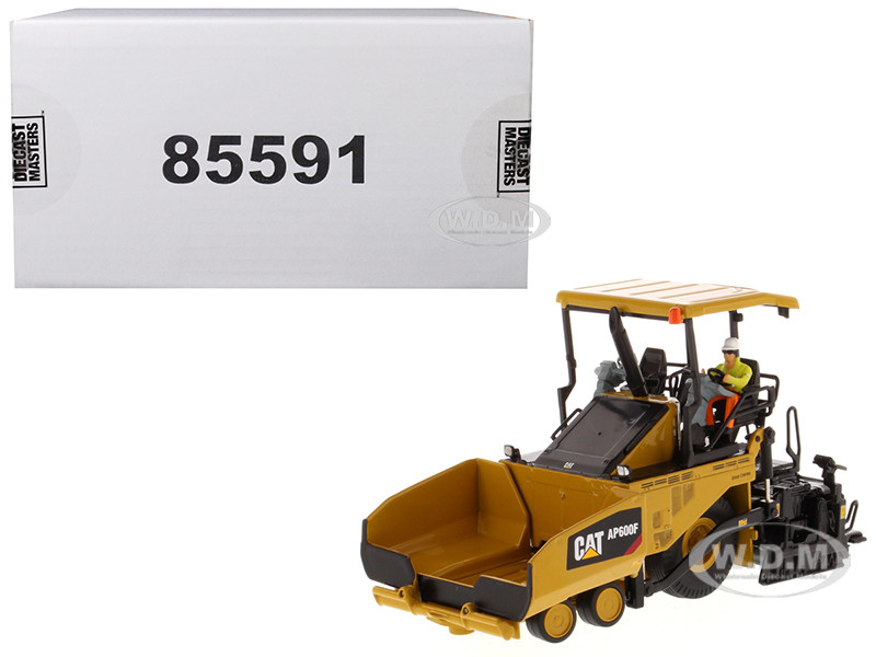 CAT Caterpillar AP600F Wheeled Asphalt Paver Operator High Line Series 1/50 Diecast Model Diecast Masters 85591