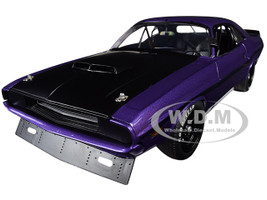 1970 Dodge Challenger Trans Am Street Version Plum Crazy Purple Black Hood Black Stripes Limited Edition 480 pieces Worldwide 1/18 Diecast Model Car ACME A1806010