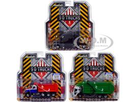 2019 Mack Trucks SD Trucks Series 6 Set 3 pieces 1/64 Diecast Models Greenlight 45060