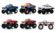 Kings Crunch Set 6 Monster Trucks Series 3 1/64 Diecast Model Cars Greenlight 49030