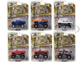 Kings Crunch Set 6 Monster Trucks Series 3 1/64 Diecast Model Cars Greenlight 49030