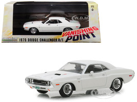 1970 Dodge Challenger R/T White Vanishing Point 1971 Movie 1/43 Diecast Model Car Greenlight 86545