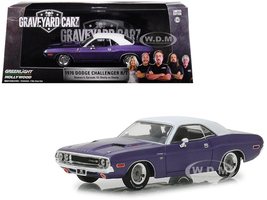1970 Dodge Challenger R/T Purple White Top Graveyard Carz 2012 TV Series Season 5 Chally vs Chally 1/43 Diecast Model Car Greenlight 86553