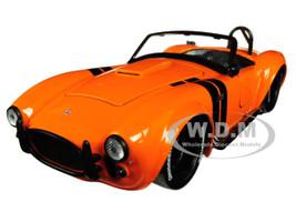 1965 Shelby Cobra 427 S/C Orange Black Stripes Bigtime Muscle 1/24 Diecast Model Car Jada 30531