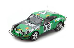 Porsche 911 ST #33 Bjoern Waldegard Lars Helmer 1971 East African Safari Rally 1/18 Model Car Spark 18S285