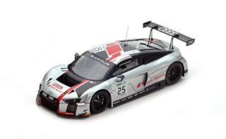 Audi R8 LMS #25 Jules Gounon Markus Winkelhock Christopher Haase Winners Spa 24 Hours 2017 Audi Sport Team Sainteloc 1/18 Model Car Spark 18SB006