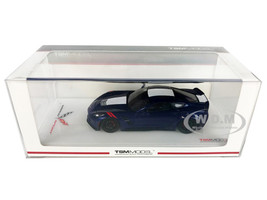 Chevrolet Corvette Grand Sport Blue White Stripe 1/43 Model Car True Scale Miniatures TSM 430230