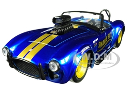 1965 Shelby Cobra 427 S/C Candy Blue Gold Stripes Snake Bite Bigtime Muscle Series 1/24 Diecast Model Car Jada 30706