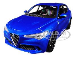 Alfa Romeo Stelvio Quadrifoglio Blue 1/24 Diecast Model Car Bburago 21086