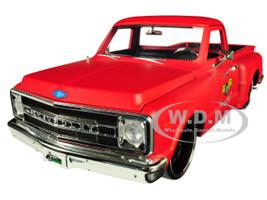 1969 Chevrolet C10 Stepside Pickup Truck Matt Red Garage Nuts Just Trucks Series 1/24 Diecast Model Car Jada 99322
