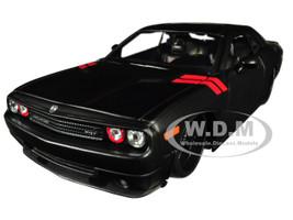 2008 Dodge Challenger Matt Black Modern Muscle 1/24 Diecast Model Car Maisto 32529