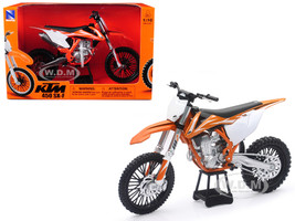 KTM 450 SX-F Dirt Bike Orange White Motorcycle Model 1/10 New Ray 57943