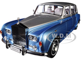 Rolls Royce Phantom VI Light Blue Silver Top 1/18 Diecast Model Car Kyosho 08905 LBS