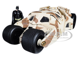 The Dark Knight Batmobile Batman Diecast Figure Camouflage Version DC Comics Series 1/24 Diecast Model Car Jada 98543
