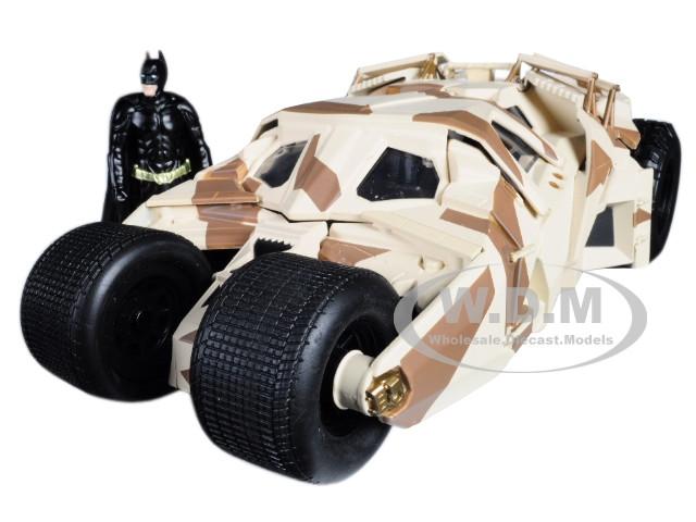 The Dark Knight Batmobile Batman Diecast Figure Camouflage Version DC Comics Series 1/24 Diecast Model Car Jada 98543