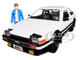 Toyota Trueno AE86 Takumi Diecast Figure Initial D First Stage 1998 TV Series Hollywood Rides Series 1/24 Diecast Model Car Jada 99733