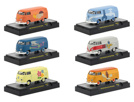 Auto Thentics Volkswagen 6 Cars Set Release 6 DISPLAY CASES 1/64 Diecast Model Cars M2 Machines 32500-VW06