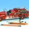 1938 Ahrens Fox VC Fire Engine Red 1/24 Diecast Car Road Signature 20178