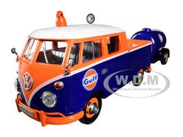 Volkswagen Service Pickup Plastic Oil Tank Gulf Oil 1/24 Diecast Model Car Motormax 79610