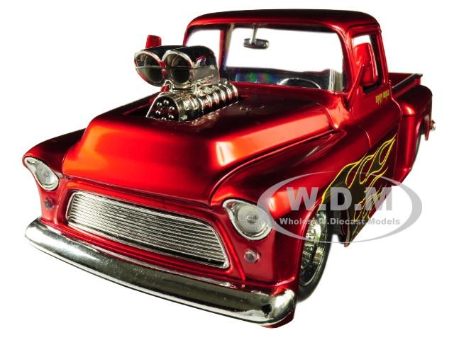 Jada 1:24 Just Trucks 1955 Chevrolet Stepside w// Show Engine Blower Pickup Truck