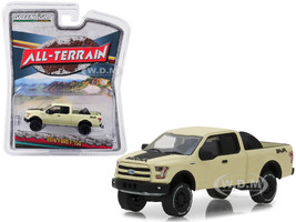 2016 Ford F-150 Pickup Truck Baja Tire Carrier Matt Yellow All Terrain Series 7 1/64 Diecast Model Car Greenlight 35110 E