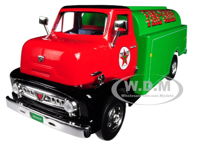 1953 Ford Tanker Truck Texaco Fire Chief 9th Series USA Series Utility Service Advertising 1/30 Diecast Model Autoworld CP7520