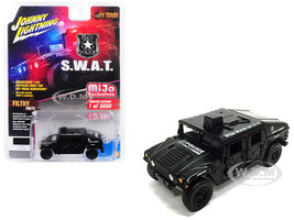 Humvee Police SWAT Matt Black Off Road Series Limited Edition 3600 pieces Worldwide 1/64 Diecast Model Car Johnny Lightning JLCP7159