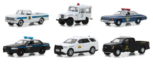 Hot Pursuit Series 29 Set 6 Cars 1/64 Diecast Models Greenlight 42860