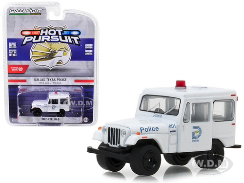 1977 Jeep DJ-5 Dallas Texas Police Hot Pursuit Series 29 1/64 Diecast Model Car Greenlight 42860 B