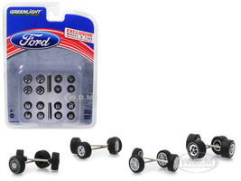 Wheel Tire Multipack Set 24 pieces Ford Hobby Exclusive 1/64 Greenlight 13166