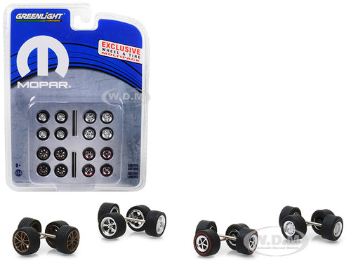 Wheel Tire Multipack Set 24 pieces MOPAR Hobby Exclusive 1/64 Greenlight 13168