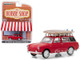 1962 Volkswagen Type 3 Squareback Roof Rack Surfboards Red The Hobby Shop Series 5 1/64 Diecast Model Car Greenlight 97050 A