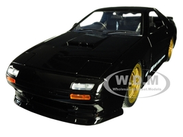 1985 Mazda RX-7 FC Black Gold Wheels JDM Tuners 1/24 Diecast Model Car Jada 30425
