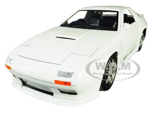 1985 Mazda RX-7 FC White JDM Tuners 1/24 Diecast Model Car Jada 30940