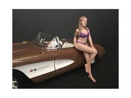July Bikini Calendar Girl Figurine 1/18 Scale Models American Diorama 38171
