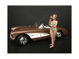 August Bikini Calendar Girl Figurine 1/18 Scale Models American Diorama 38172