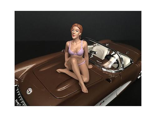 September Bikini Calendar Girl Figurine 1/18 Scale Models American Diorama 38173