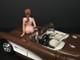 September Bikini Calendar Girl Figurine 1/24 Scale Models American Diorama 38273