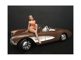 November Bikini Calendar Girl Figurine 1/24 Scale Models American Diorama 38275