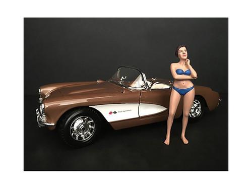 December Bikini Calendar Girl Figurine 1/24 Scale Models American Diorama 38276