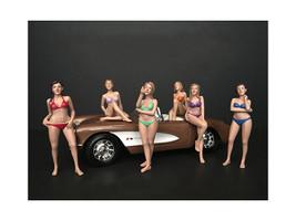 Bikini Calendar Girls Series II 6 piece Figurine Set 1/24 Scale Models American Diorama 38271 38272 38273 38274 38275 38276