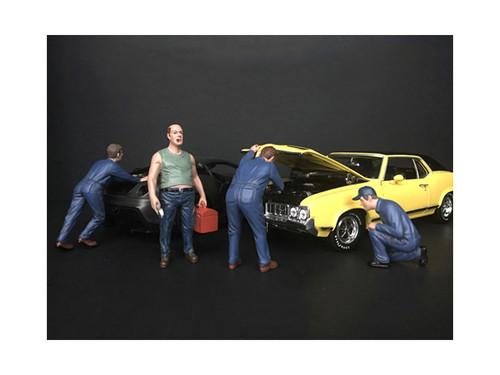 Mechanic Classic 4 Piece Figurine Set 1/18 Scale Models American Diorama 38177 38178 38179 38180