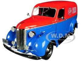 1939 Chevrolet Panel Truck STP Blue Red Top Running on Empty Series 1/24 Diecast Model Car Greenlight 85022