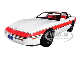 1984 Chevrolet Corvette C4 White Red Stripe The A-Team 1983 1987 TV Series 1/18 Diecast Model Car Greenlight 13532