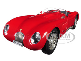 1952 Jaguar C-Type XKC 023 Red Limited Edition 1000 pieces Worldwide 1/18 Diecast Model Car CMC 193