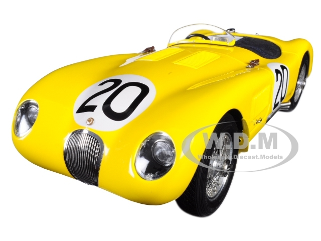 Jaguar C-Type #20 Roger Laurent Charles de Tornaco 24 Hours Le Mans France 1953 Jaguar Racing Team Limited Edition 1000 pieces Worldwide 1/18 Diecast Model Car CMC 194